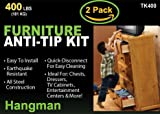 2 Pack Kit | Hangman Anti-Tip Kit - 400 Pound Falling Furniture Prevention Device (TK-400)