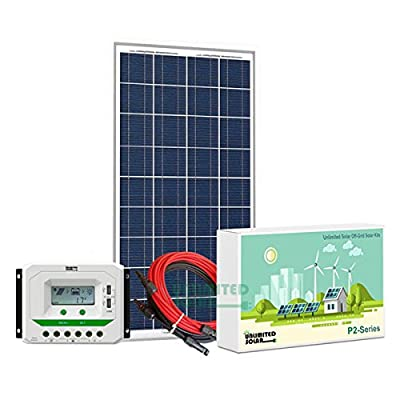 Unlimited Solar P3 Series 160 Watt 12 Volt Off-Grid Solar Panel Kit