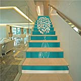 3D Self-Adhesive Vinyl Staircase Stickers Decal