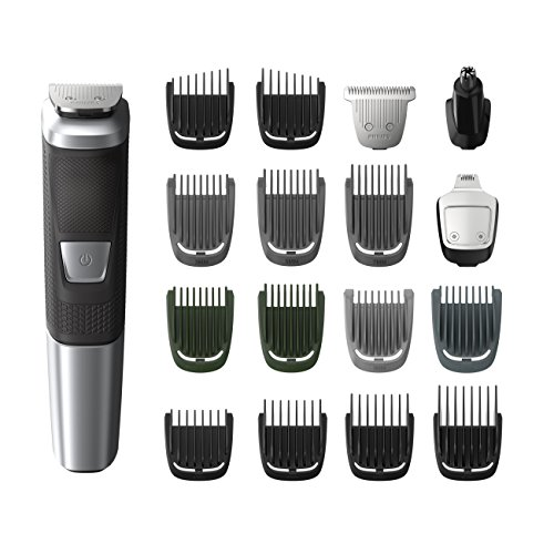 Philips Norelco Multi Groomer MG5750/49 - 18 piece, beard, body, face, nose, and ear hair trimmer and clipper (Mens Beard And Body Trimmer)