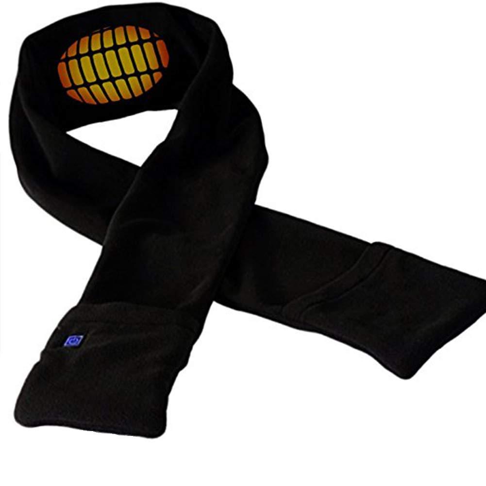 Bufanda con calefacción USB, calentador de cuello eléctrico de invierno, chal de bufanda térmica de forro polar suave, temperatura ajustable, para deportes al aire libre, senderismo calentador de cuello eléctrico de invierno HOMYY