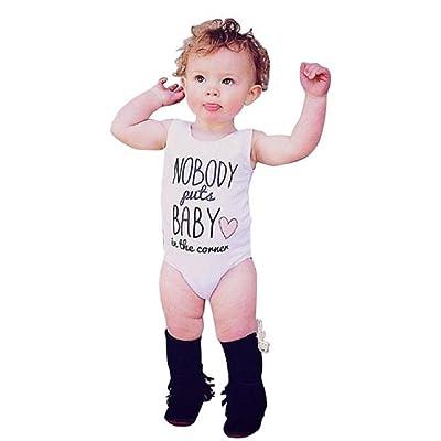 Toddler Bodysuit,Leegor Boy Girl Letter Printing Romper Love Vest T-shirt