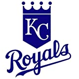 kc royals car window decal - ANGDEST Kansas City Royals logo (NAVY BLUE) (set of 2) - silhouette stencil artwork by Waterproof Vinyl Decal Stickers for Laptop Phone Helmet Car Window Bumper Mug Cup Door Wall Home Decoration