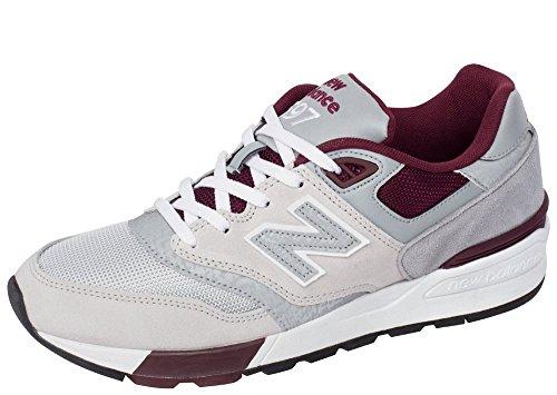 New Balance 597 90s Classics Traditional Men's Sneakers ML597NOA Grey Burgundy (10)