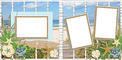 BEACH BREEZES EZ Layout 2073 Premade Scrapbook Pages