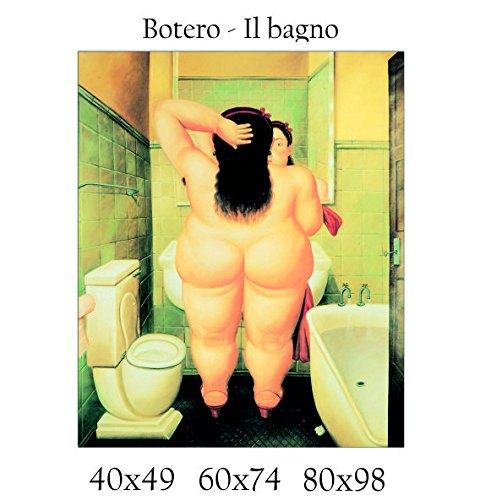 Stampa in Tela Canvas 100% QUALITà ITALIA - Botero - Il bagno ...