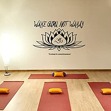 Amazon.com: Mantra wahe Guru interior Yoga Flor de Loto ...