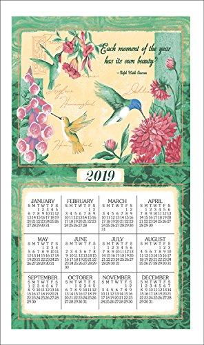 2020 Wings and Blossoms Calendar Linen Towel Hummingbirds ()