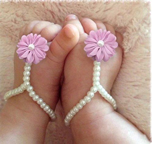 Infant Baby Barefoot Sandles. Shoe. fotwear. gasa. 14cm. Rosa.