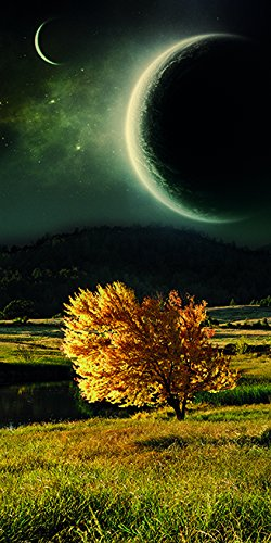 Autumn on Twin Worlds (Limited Edition on Canvas - 15x8 in.) by
