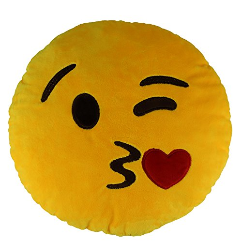"1pc Sealive 13.8"" Lovely Emoji Kiss Emoticon HeartStuffed Pillow Plush Baby Toys,Sofa Bedding Decoration"