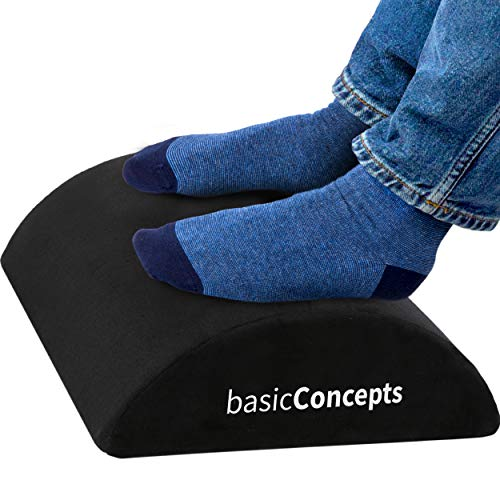 Basic Concepts Ergonomic Foot Rest Under Desk (Black)