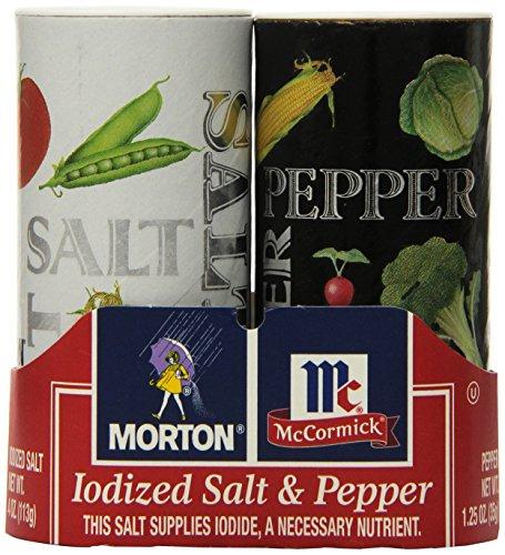 Morton Salt and Pepper Shakers, 5.25 Ounce (Pack of 12) (Shaker Slat)