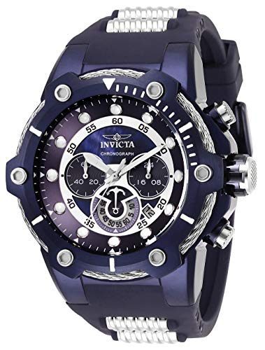 Invicta Men's 'Bolt' Quartz Stainless Steel and Silicone Watch, Color:Purple (Model: 28036)