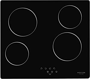 NOXTON Ceramic Cooktop Built-in 4 Burners Electric Stove Electric Cooker Hob With Touch Control Child Lock Timer Easy To Clean with Hard Wire 6000W 220~240V
