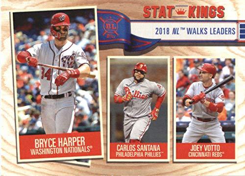 2019 Big League Baseball #354 Bryce Harper/Carlos Santana/Joey Votto Washington Nationals Official MLB Trading Card From Topps (Washington Mlb Card Nationals)