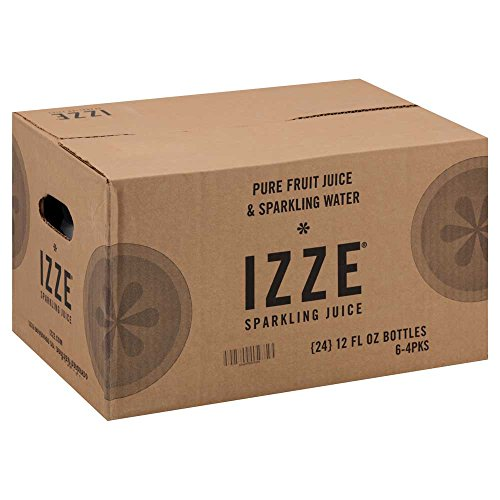 Izze Natural Blueberry Sparkling Juice, 12 Ounce -- 24 per case.
