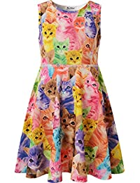 Girls Summer Dress Sleeveless Printing Casual/Party...