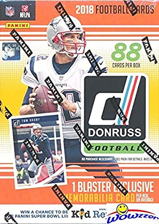 2018 Donruss Nfl Football Exclusive Huge Factory Sealed Retail Box With Memorabilia Card One Rookie Per Pack Look For Rcs Autos Of Baker