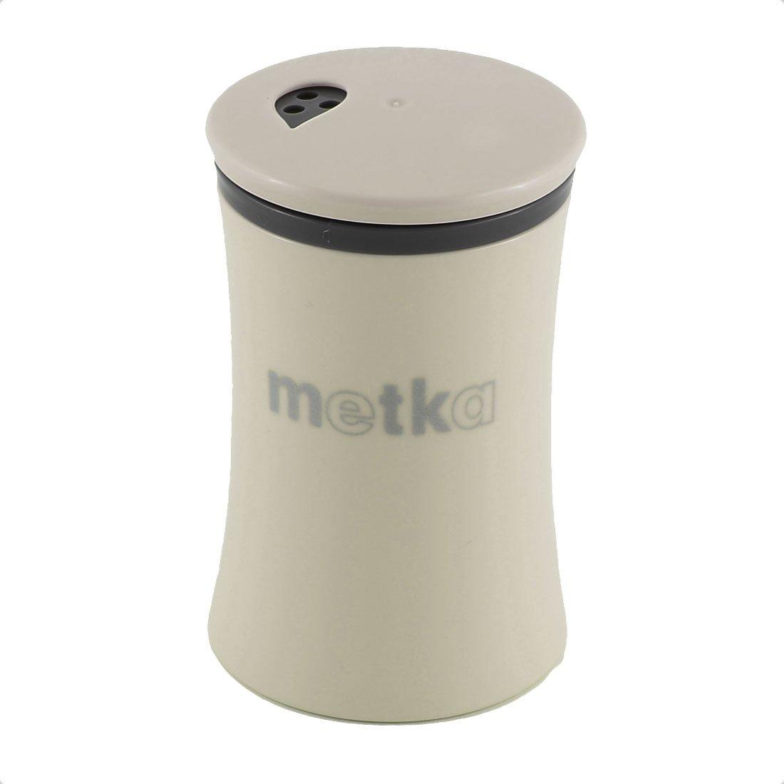 sourcingmap® Casa stoviglie plastica coperchio girevole spezie ampolla stuzzicadenti supporto kaki a16062100ux0604