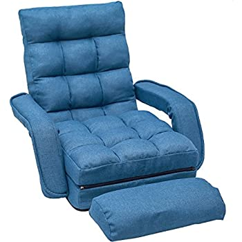 Amazon.com: Giantex Folding Lazy Sofa Chair Stylish Sofa ...