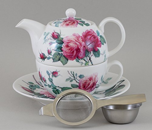 Roy Kirkham English Rose Tea For One Stacking Teapot Set