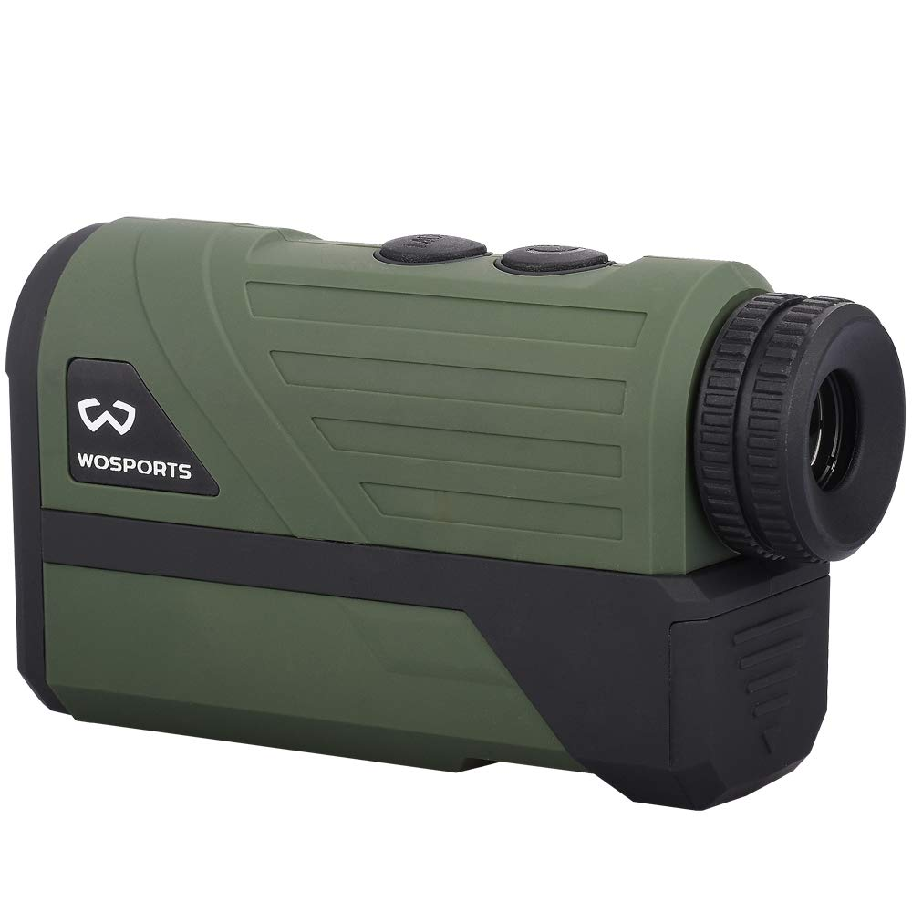 Wosports Hunting Range Finder, Upgraded Battery Cover - Laser Rangefinder for Archery Bow Hunting with Ranging, Flagpole Lock, Speed - Free Battery