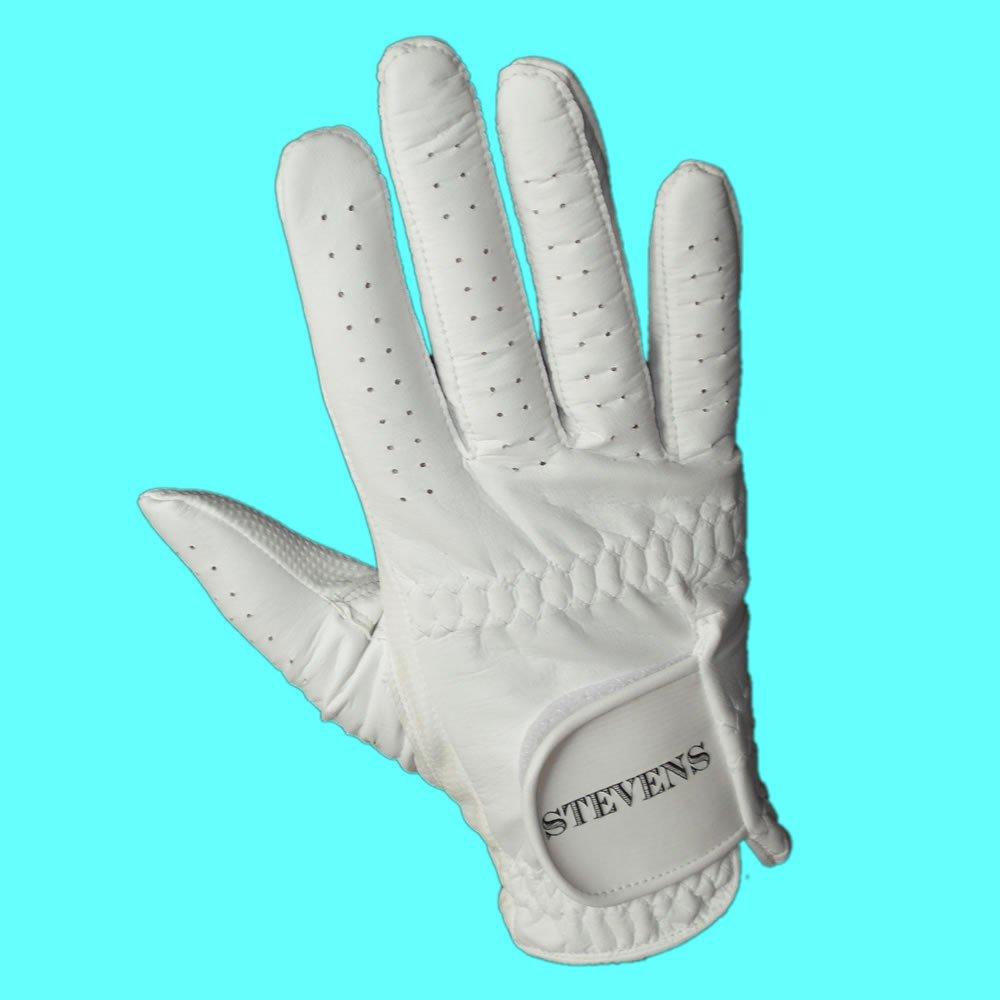 Stevens Mens Left Hand White Bowling Glove Small
