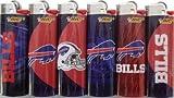 6pc Set BIC Buffalo Bills NFL Officially Licensed Cigarette Lighters