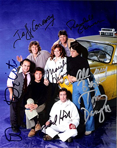 "Hackney"" Signed by JUDD HIRSCH, JEFF CONAWAY, DANNY DEVITO, TONY DANZA, MARILU HENNER, CHRISTOPHER LLOYD, and RANDALL CARVER - Signed 8x10 Color Photo"