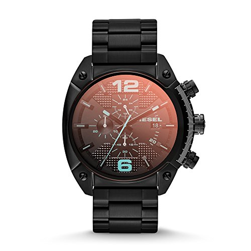 Diesel Men's Overflow Quartz Stainless Steel Chronograph Watch, Color: Black (Model: DZ4316)