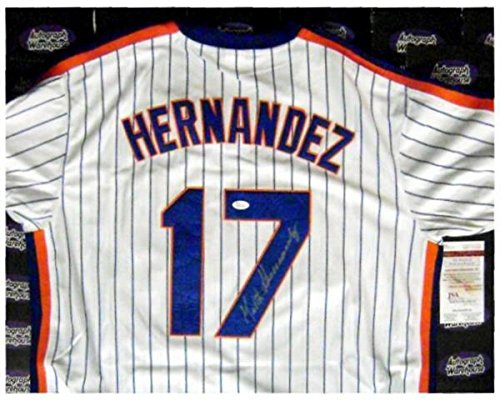 Hernandez Autographed Jersey - Signed Keith Hernandez Jersey - 1986 World Series Champion Home Size XL JSA Certification - Autographed MLB Jerseys