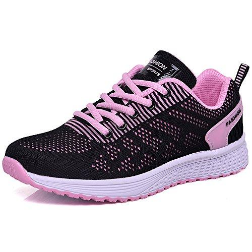 FangYOU1314 Señoras Zapatillas de Deporte Transpirables y cómodas al Aire Libre (Color : Negro, tamaño : 38 2/3 EU) Negro