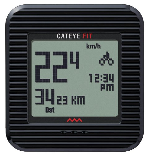 CatEye Fit Wireless Bicycle Computer/Walk Pedometer CC-PD100W (Black) by CAT EYE