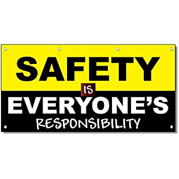 Amazon Com Motivational Safety Banner Quot On The Job Safety