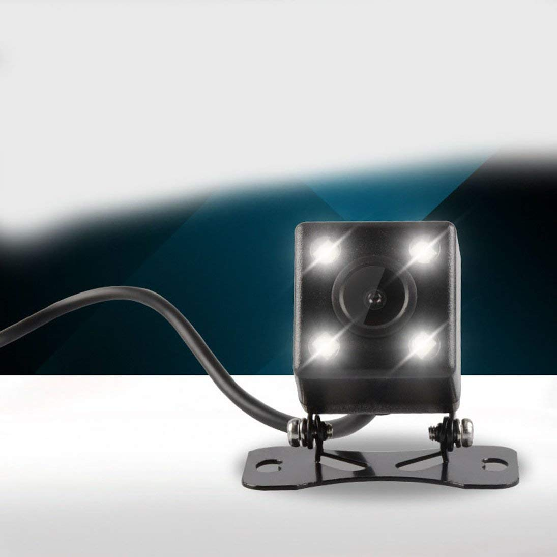 Togames-ES Reversing Camera HD Universal Plug-in Car Camera Car Rear View Camera170 Degrees High Definition