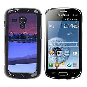 TopCaseStore / la caja del caucho duro de la cubierta de protección de la piel - Nature Moutnain Tips - Samsung Galaxy S Duos S7562