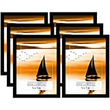 black 5x7 picture frames - Americanflat 6 Pack 5x7 Inch Black Picture Frames With Glass Front