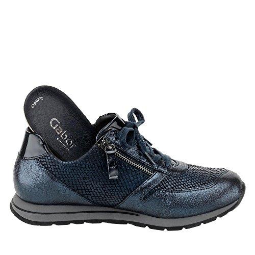 pour à Femme Lacets de Blau Chaussures Metallic Gabor Ville qXtwvxOfZ