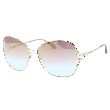 2018 Roberto Cavalli Gambassi RC-1060 Women Square Gold Metal Snake Head  Sunglasses 9332565a84