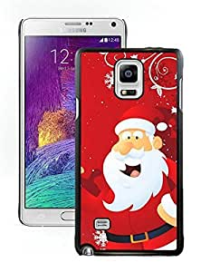 linJUN FENGCustomized Portfolio Santa Claus Black Samsung Galaxy Note 4 Case 13