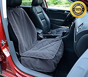 lanyar microfiber dog car bucket seat cover for pets seat protector dark grey. Black Bedroom Furniture Sets. Home Design Ideas
