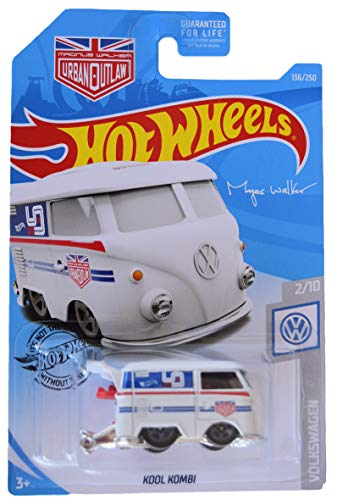 Hot Wheels Volkswagen Series 2/10 Kool Kombi 136/250, White (Hot Wheels Vw)