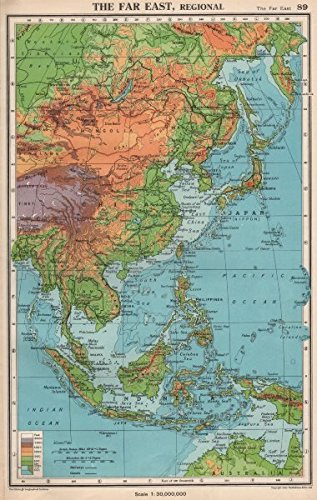 Map Of Asia Far East.Amazon Com The Far East Physical East Asia East Indies