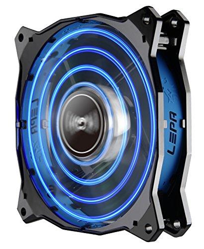 LEPA Chopper Advance 120mm High Performance LED PC Case Fan, Blue - LPCPA12P-BL