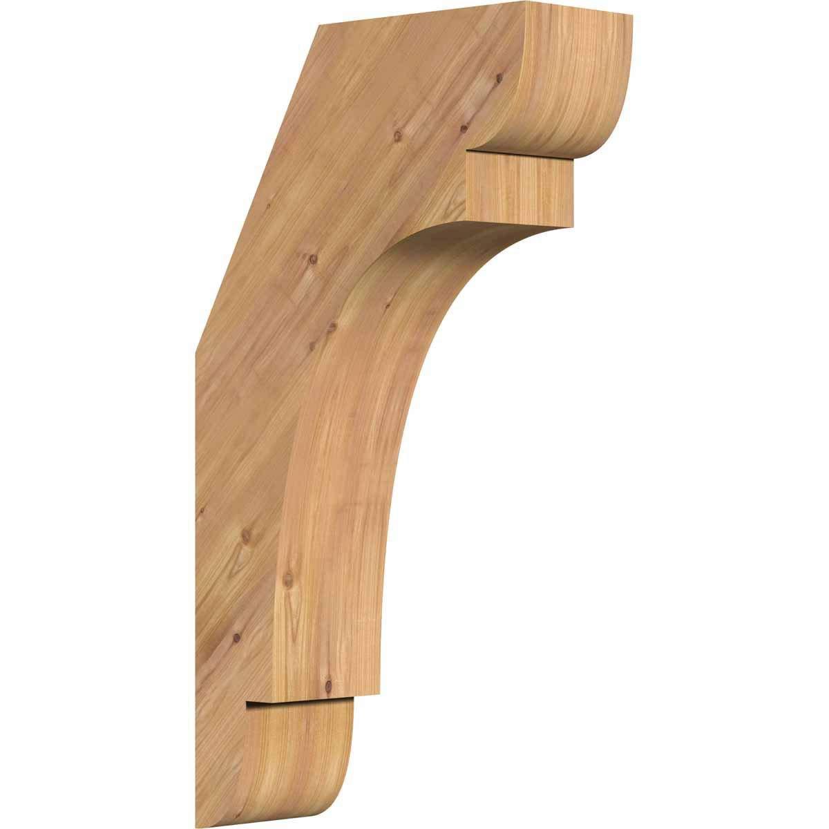Renewed Western Red Cedar Ekena Millwork BRC04X10X18OLY00SWR Olympic Smooth Brace 4 Width x 10 Depth x 18 Height
