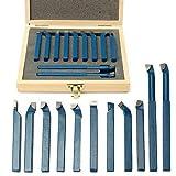 FidgetFidget Bit Box 11x 8mm(5/16'') Mini Lathe Tool Carbide Tip Metal Cutting Turning Boring