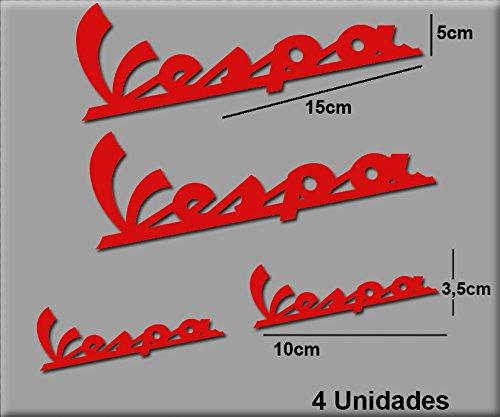 Ecoshirt LH-ES6V-9CGB Pegatinas Stickers Vespa R74 Aufkleber Decals Autocollants Adesivi Rojo