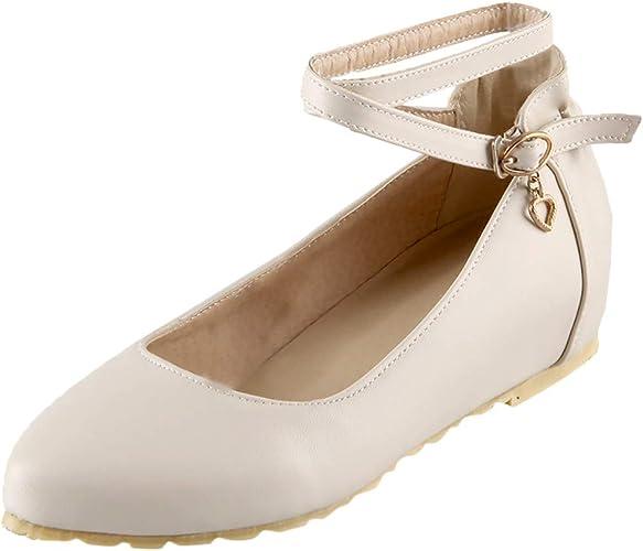 B commerce Candy Zapatos Planos para Mujer, Talla Grande