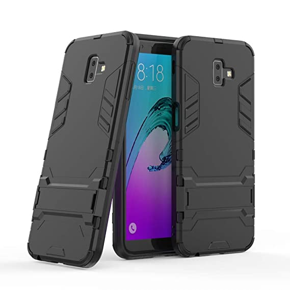 new product 38920 7c4de Galaxy J6 Plus Armor Case DWaybox 2 in 1 Hybrid Heavy Duty Armor Hard Back  Case Cover with Kickstand for Samsung Galaxy J6 Plus/J6 Prime 2018 6.0 Inch  ...